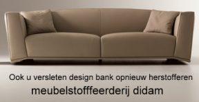 Ook u versleten design bank als nieuw herstofferen
